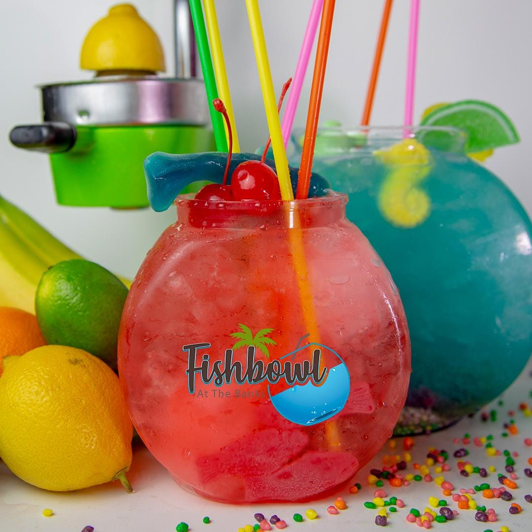 Size matters at Fishbowl At The Banks. Shareable tropical drinks will be served in giant fishbowls.