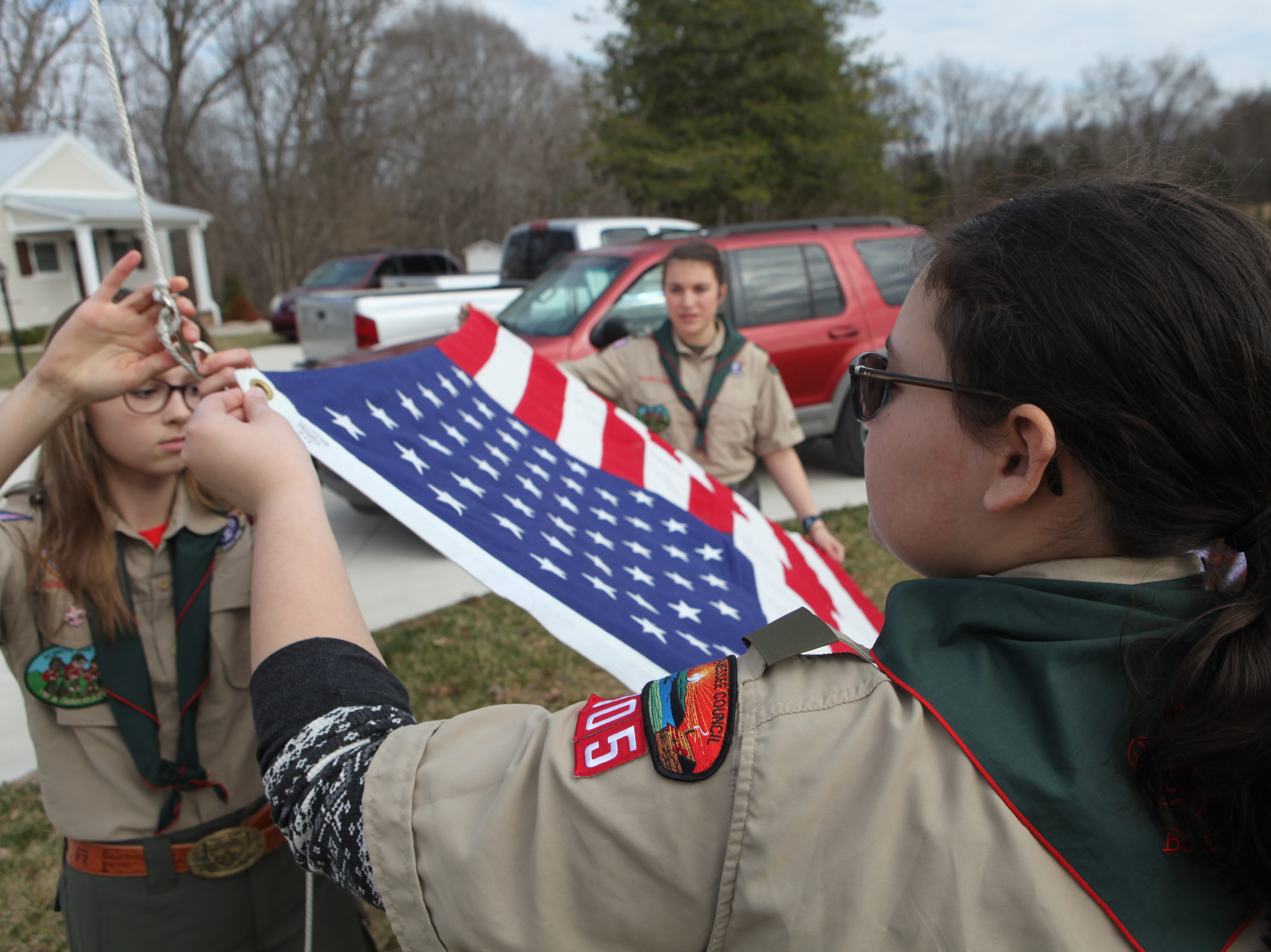 Clarksville, Tennessee's first all-female Scouts BSA Troop #21 held its inaugural lock-in event on the first weekend of February, 2019.