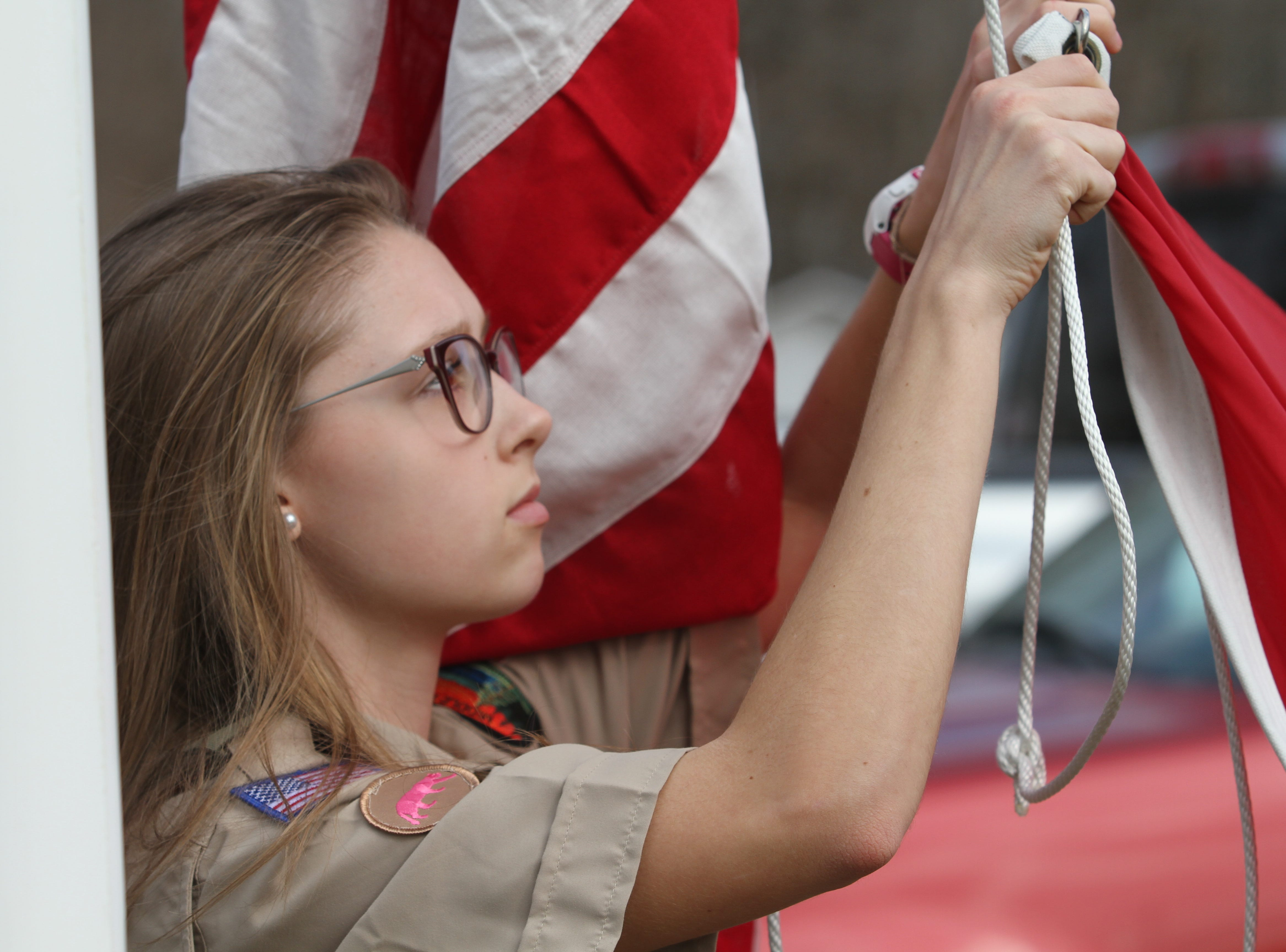 Clarksville, Tennessee's first all-female Scouts BSA Troop 21 held its inaugural lock-in event on the first weekend of February, 2019.