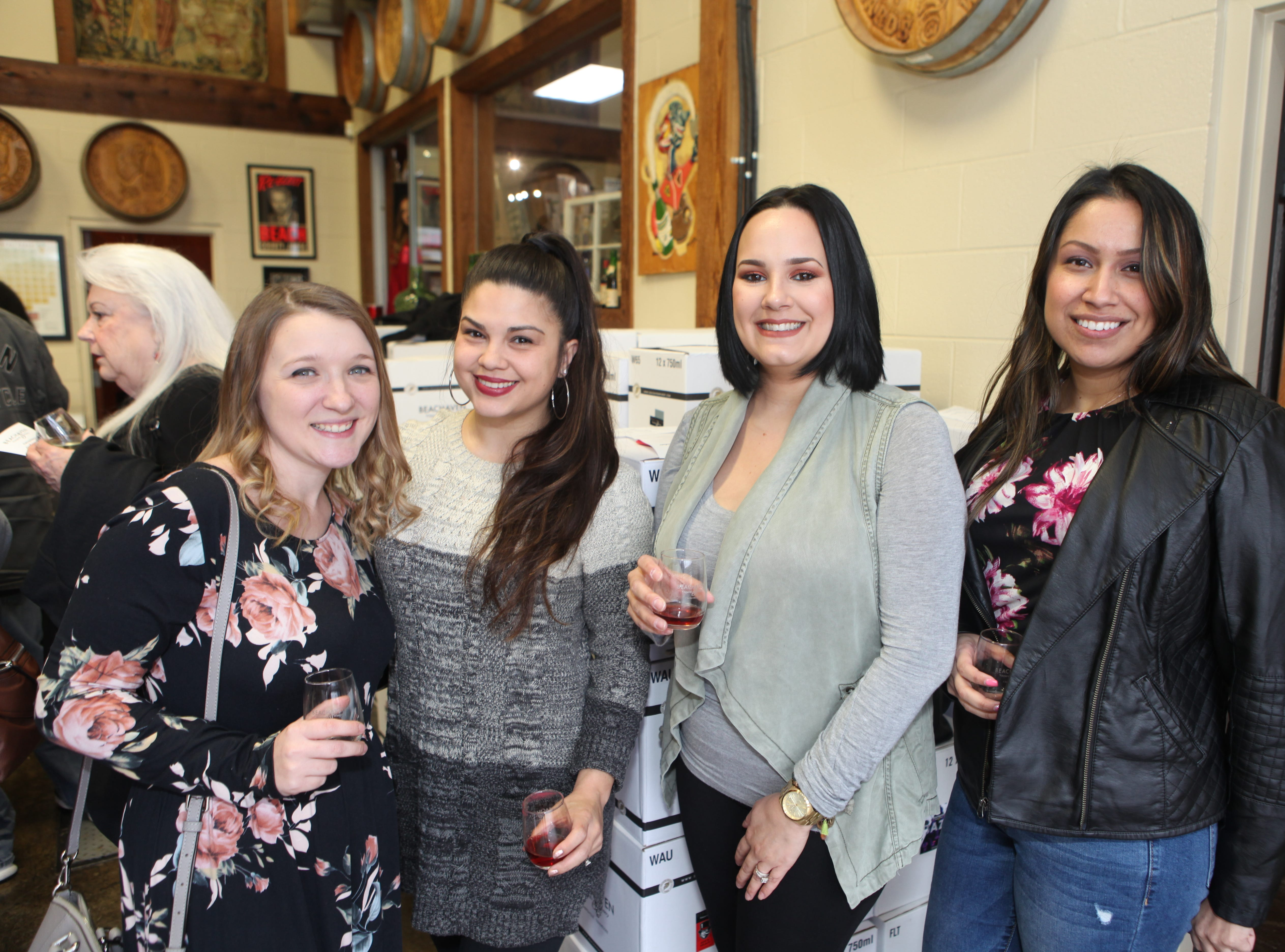 Katelin Parson, Tracy Petrilli, Casandra West, and Jonelle Dyer at the Chocolate and Wine Tasting at Beachaven Winery on Sunday, Feb. 10, 2019.