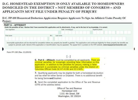 Homestead affidavit
