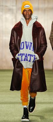 Menswear designer Todd Snyder showed Iowa State hoodies Feb. 4 show at New York Fashion Week. Photo by Maria Valentino.