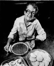 "Lora Utterback, a school cook in Sigourney, was reader-nominated for a profile in the ""Homefront"" section of the Des Moines Register on March 29, 1982."