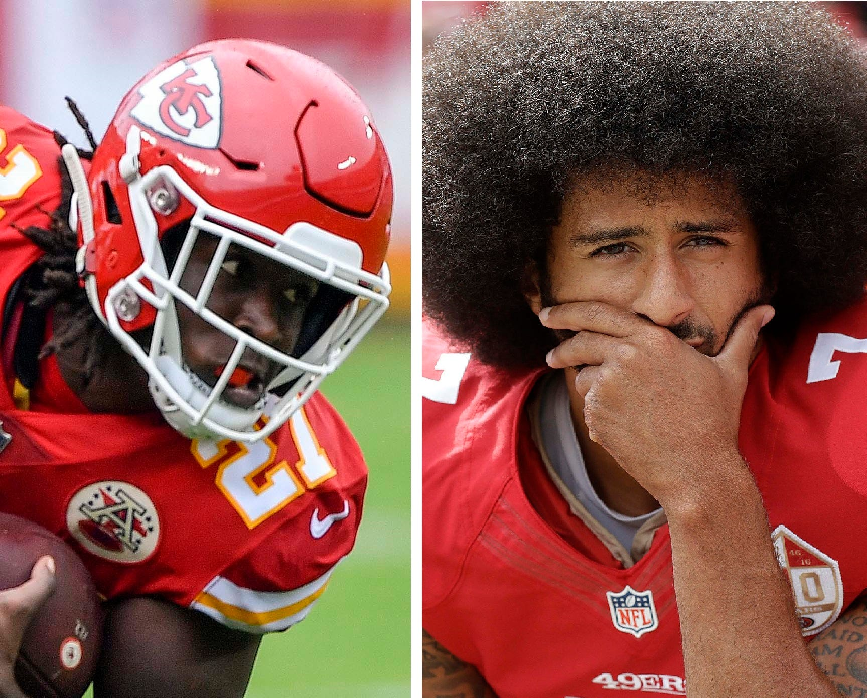 Opinion: Kareem Hunt signing shows hitting women is forgivable in NFL, but kneeling is not