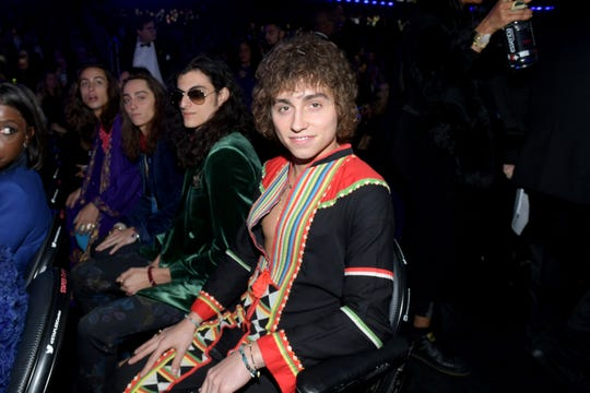 Greta Van Fleet during the 61st Annual Grammy Awards at Staples Center on Feb. 10, 2019, in Los Angeles. Front to back: Josh Kiszka, Danny Wagner, Jake Kiszka, Sam Kiszka