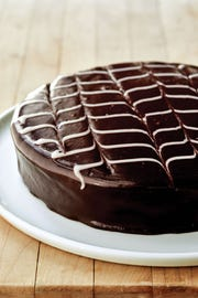 Chocolate Chevron Cake
