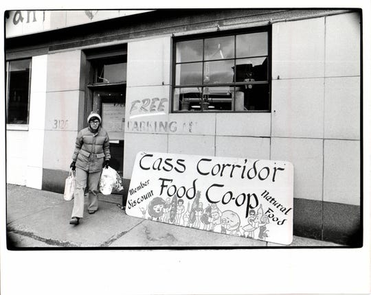 An archived photo of the Cass Corridor Food Co Op.