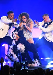 Jennifer Lopez performs during the 61st Grammy Awards at Staples Center on Feb. 10, 2019, in Los Angeles.