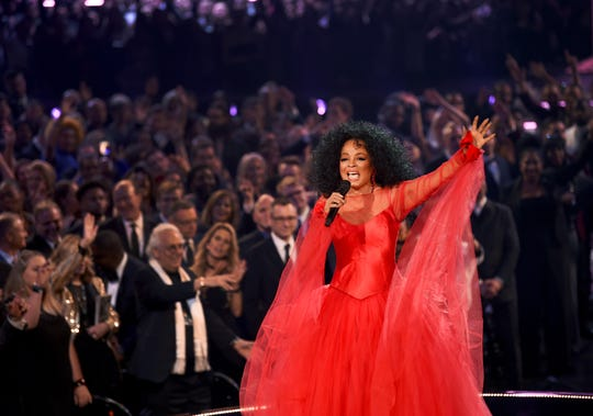 Diana Ross performs onstage during the 61st Grammy Awards at the Staples Center on Feb. 10, 2019, in Los Angeles.