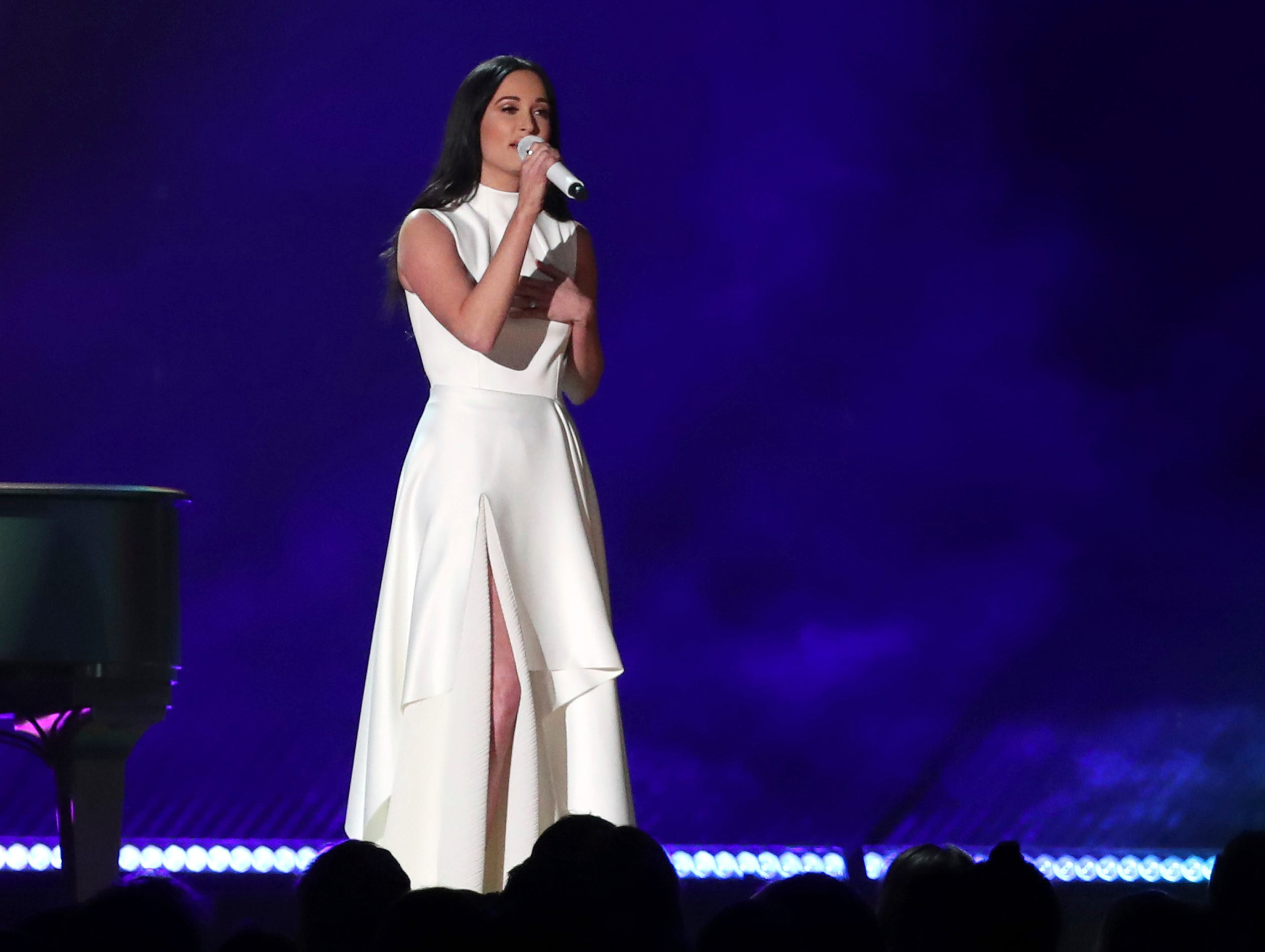"Kacey Musgraves performs ""Rainbow"" at the 61st annual Grammy Awards."