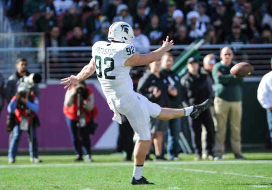 Former Michigan State punter William Przystup is transferring to Nebraska