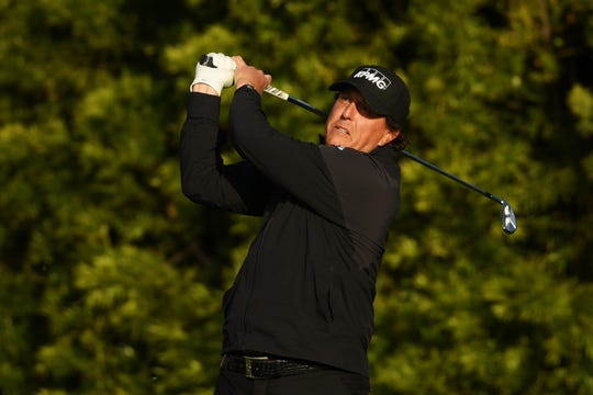 Phil Mickelson came back on Monday morning to play two holes and seal up a four-shot victory at Pebble Beach.