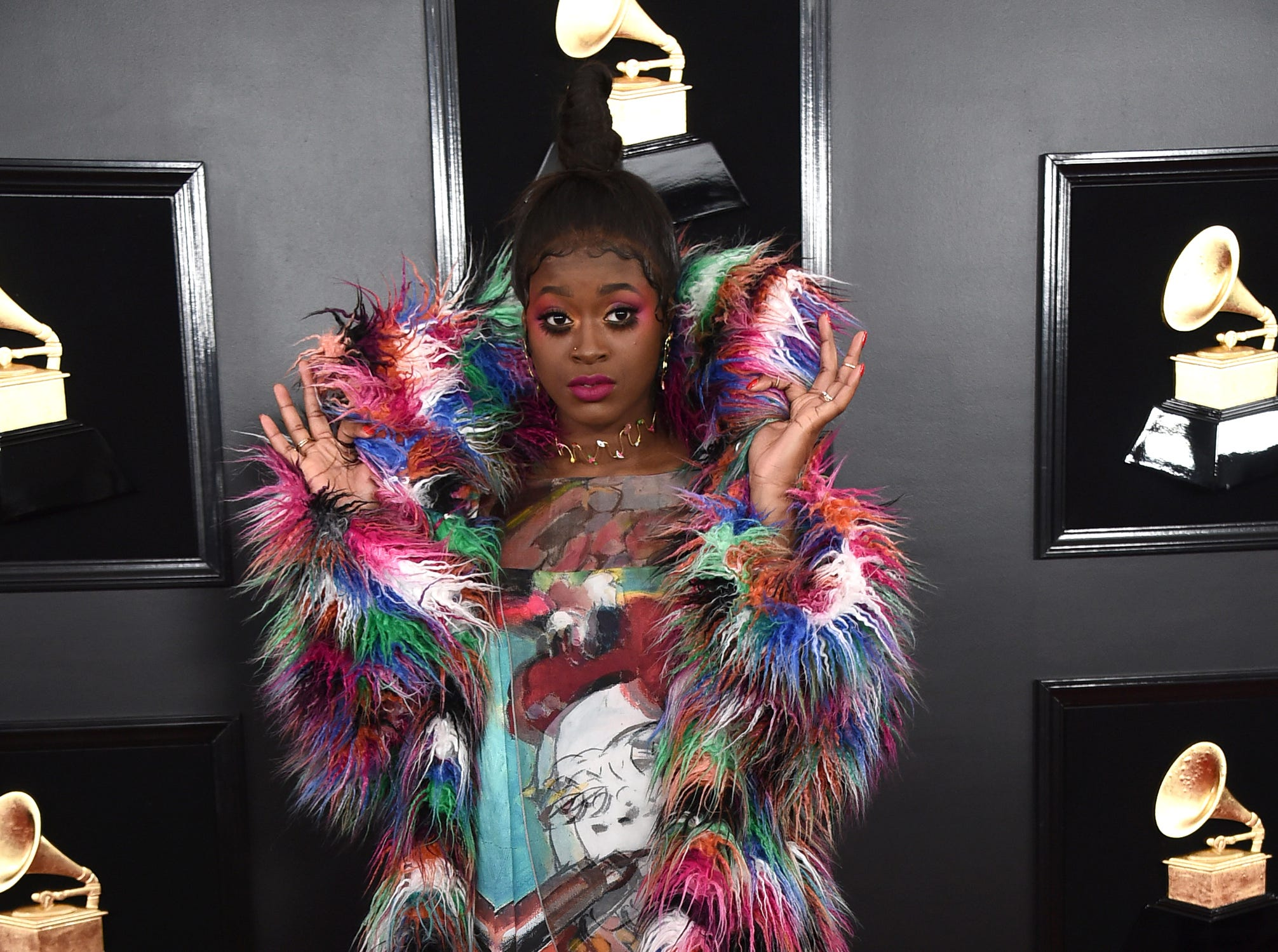 Tierra Whack arrives at the 61st annual Grammy Awards.