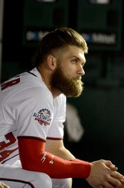 Bryce Harper is among dozens of free agents still looking for jobs.