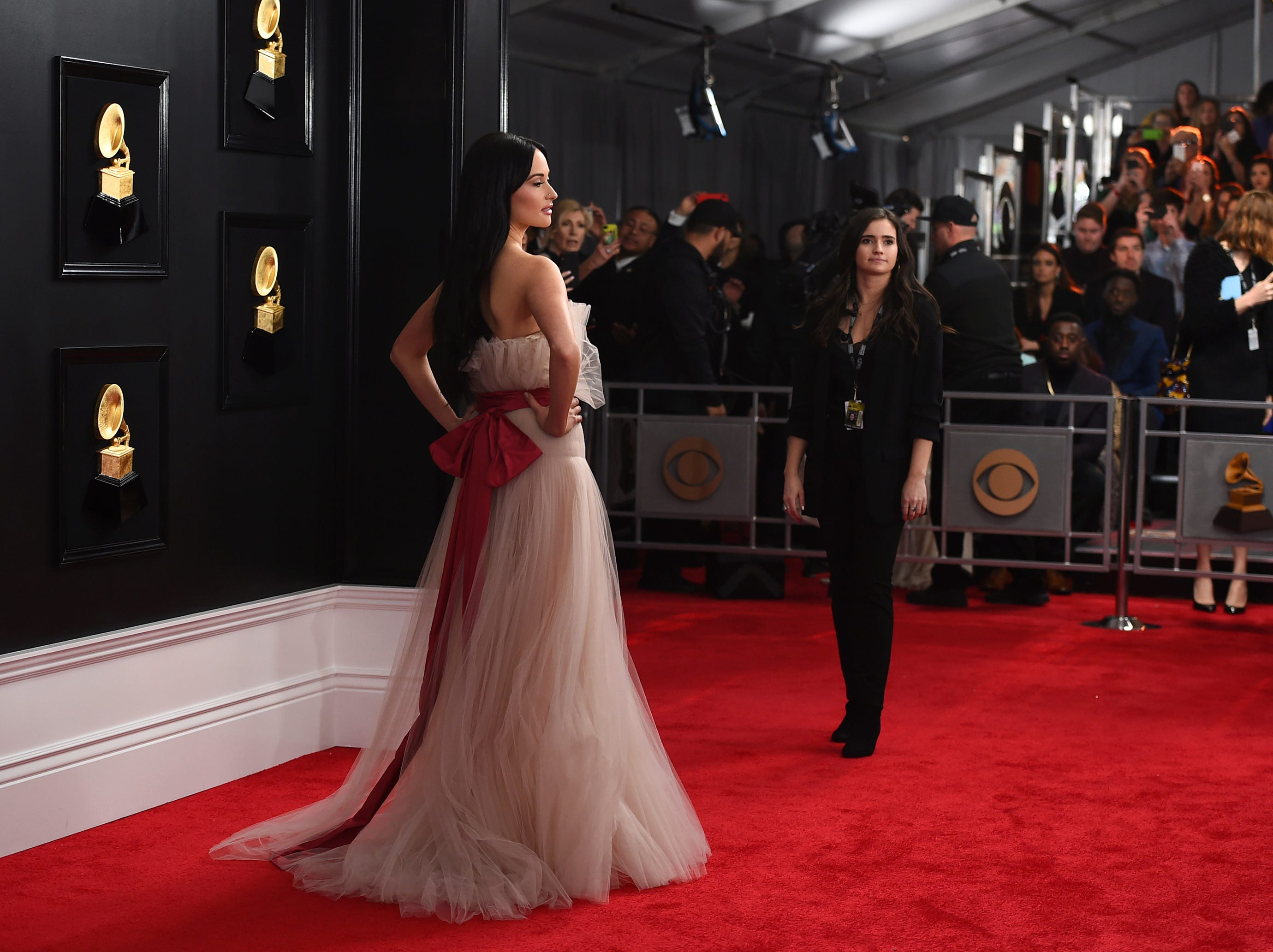 Kacey Musgraves arrives at the 61st annual Grammy Awards.