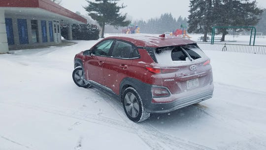 Your mileage may vary. The 2019 Hyundai Kona EV advertises 258 miles of range — better than the Chevy Bolt — but in Michigan's sub-20-degree polar vortex, range dropped by 50 percent.