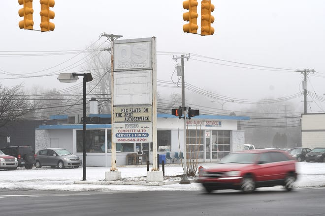 A developer for this former gas station site   at the northwest corner of Main at Catalpa in Royal Oak wants to erect a five-story, 60-unit apartment building.