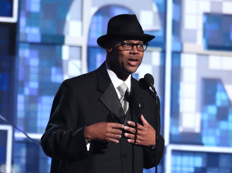 Jimmy Jam speaks at the 61st annual Grammy Awards.