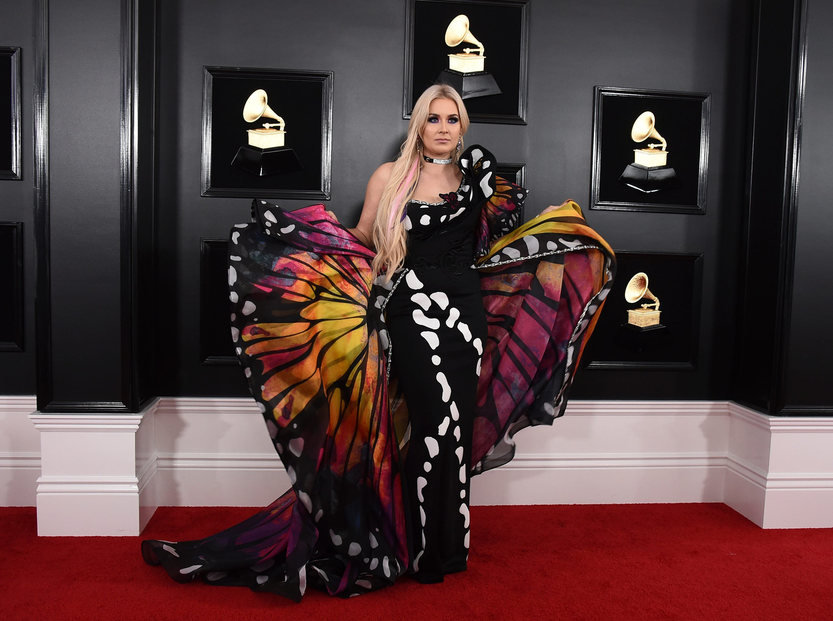 Saint Heart arrives at the 61st annual Grammy Awards.