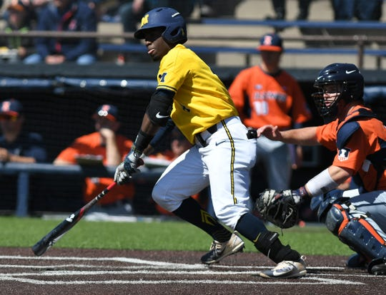 Michigan infielder Ako Thomas, who missed part of last season because of injury, was an All-Big Ten performer in 2017.