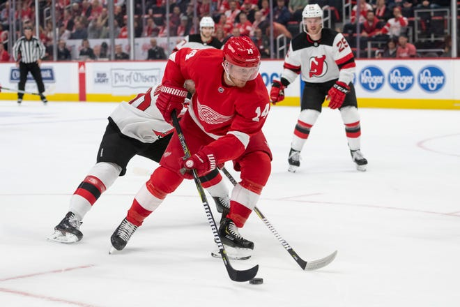 Red Wings forward Gustav Nyquist            says he tries to block out the trade rumors, but it's hard to do.