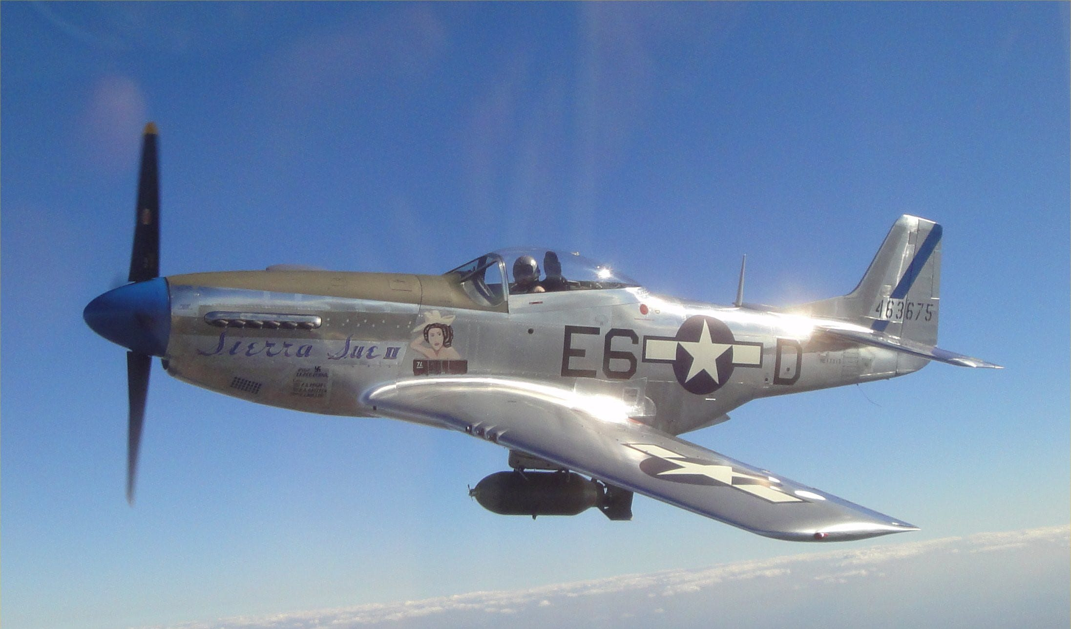 The World War II plane was restored with rivets from National Rivet & Manufacturing Co. earlier this decade.