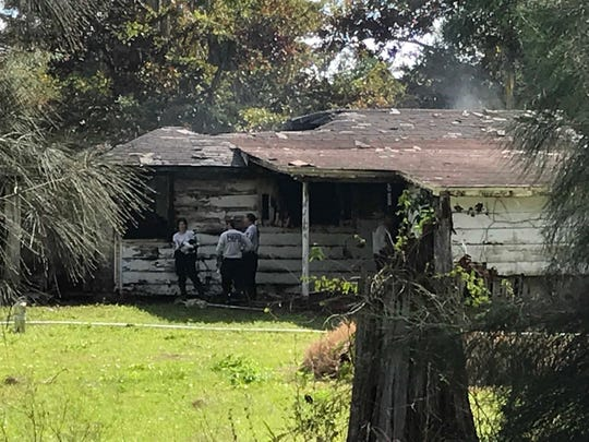 Investigators at a home on Grace Avenue in Fort Myers are looking into a the body of a man found when firefighters responded to a fire there Sunday night. The house -in disrepair,vacant and owned by First Haitian Baptist Church of Fort Myers according to the Lee County Property Appraiser's web site - was fully involved with fire shooting through the roof when firefighters arrived.