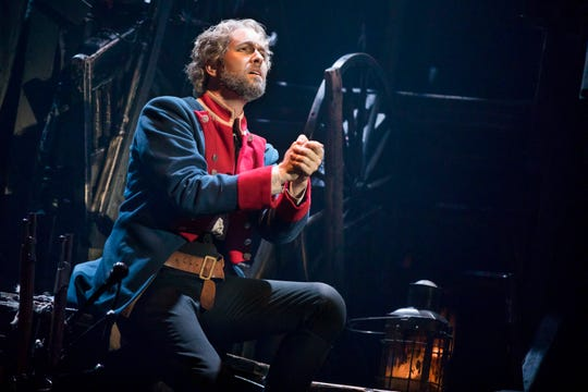 "Nick_Cartell as Jean Valjean in the national tour of ""Les Misérables"""