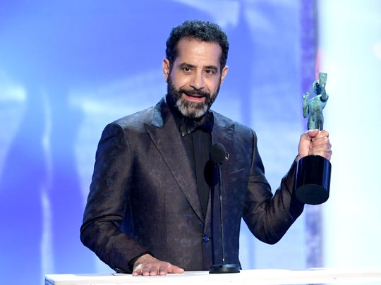 Green Bay native Tony Shalhoub accepts the award for Outstanding Performance by a Male Actor in a Comedy Series onstage during the Screen Actors Guild Awards on Jan. 27.