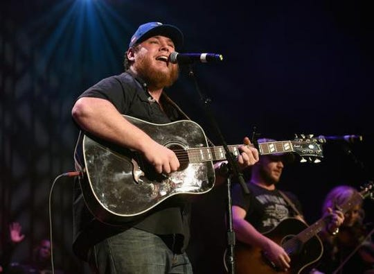 Luke Combs performs at Bon Secours Wellness Arena on Feb. 14.