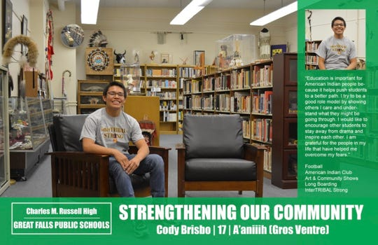 "Cody Brisbo's ""Strengthening Our Community"" poster"