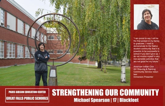"Micheal Spearson's ""Strengthening Our Community"" poster"