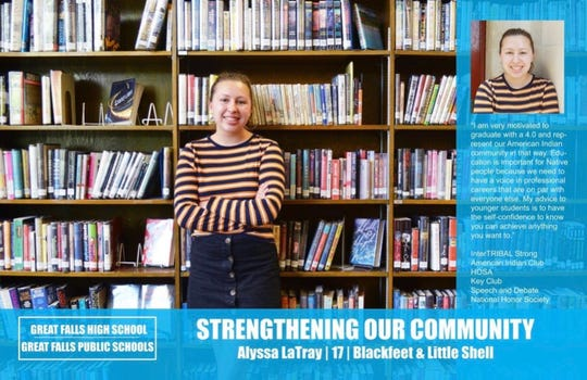"Alyssa LaTray's ""Strengthening Our Community"" poster"