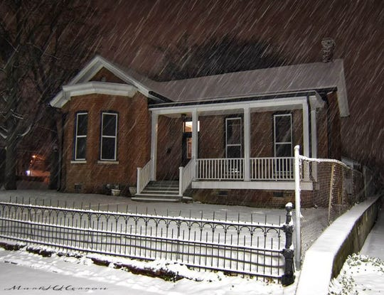 The exterior of the Hoffman House Venue during a recent snowstorm.