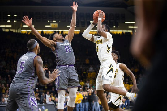 Isaiah Moss was a 39.1% shooter from 3-point range during his three seasons at Iowa. He redshirted as a true freshman.
