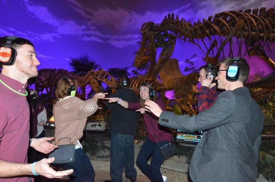 The silent disco in the Dinosphere exhibit at the Children's Museum of Indianapolis.