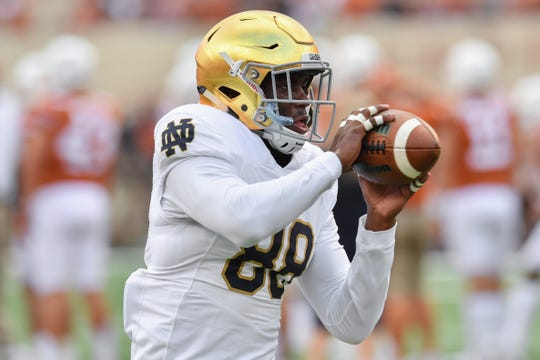 Notre Dame wide receiver Javon McKinley faces three misdemeanor charges.