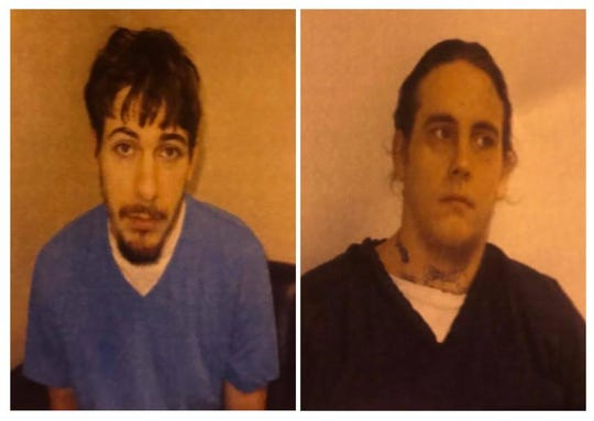 Dillon Hight, 28, left, and Timothy Keen, 29, right, escaped from Western Mental Health Institution in Bolivar, Tenn. at around 7 p.m. Sunday night. Police found them at a nearby residence and took them into custody at around 10:30 p.m.