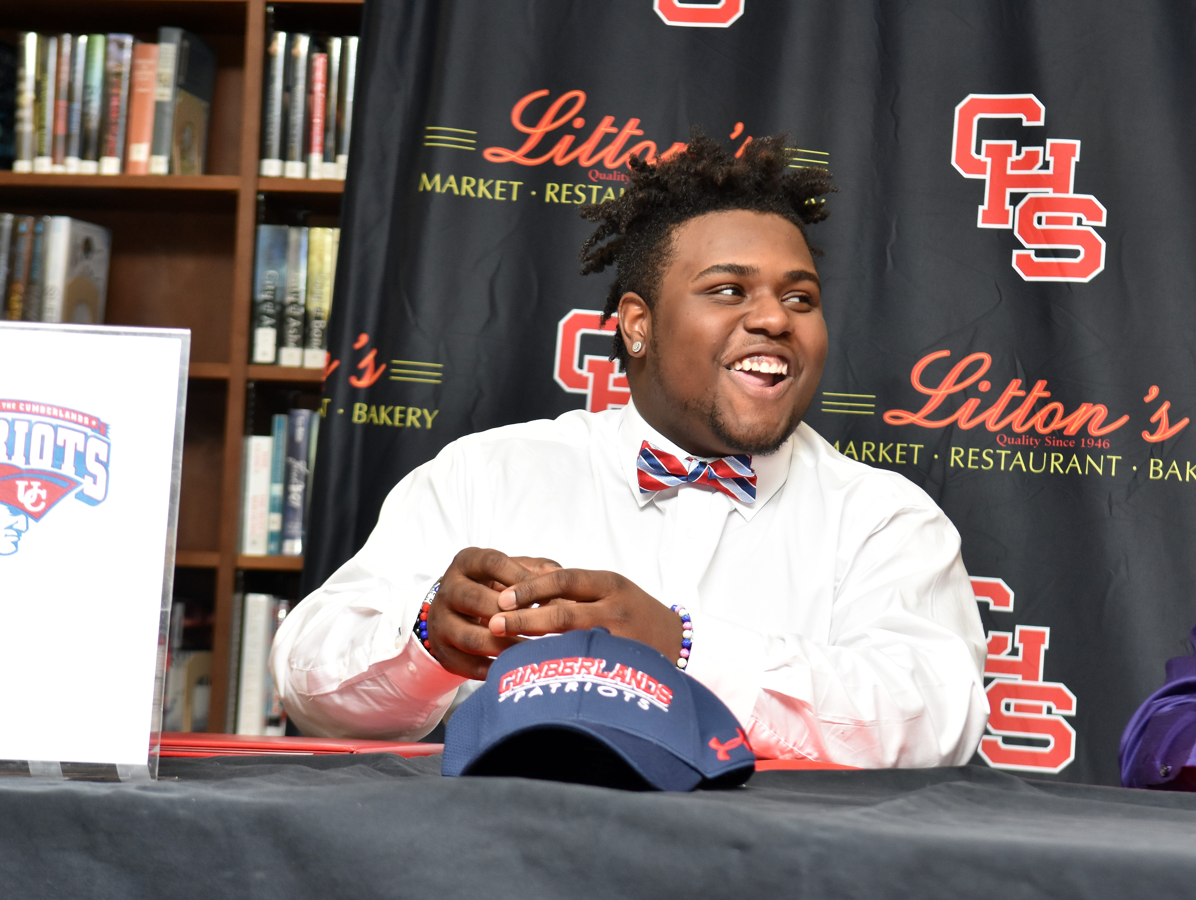 Central High's Jalynn Clemons signed to play football at the University of the Cumberlands on his signing day, Monday, Feb. 11, 2019.