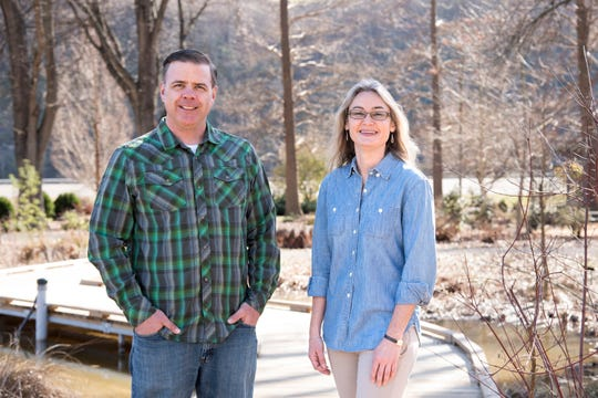 Andy Pulte (left) and Natalie Bumgarner of the Department of Plant Sciences at the University of Tennessee Institute of Agriculture combed through more than 600 nominations to help a panel of experts determine the 10 plants that most shaped Tennessee.
