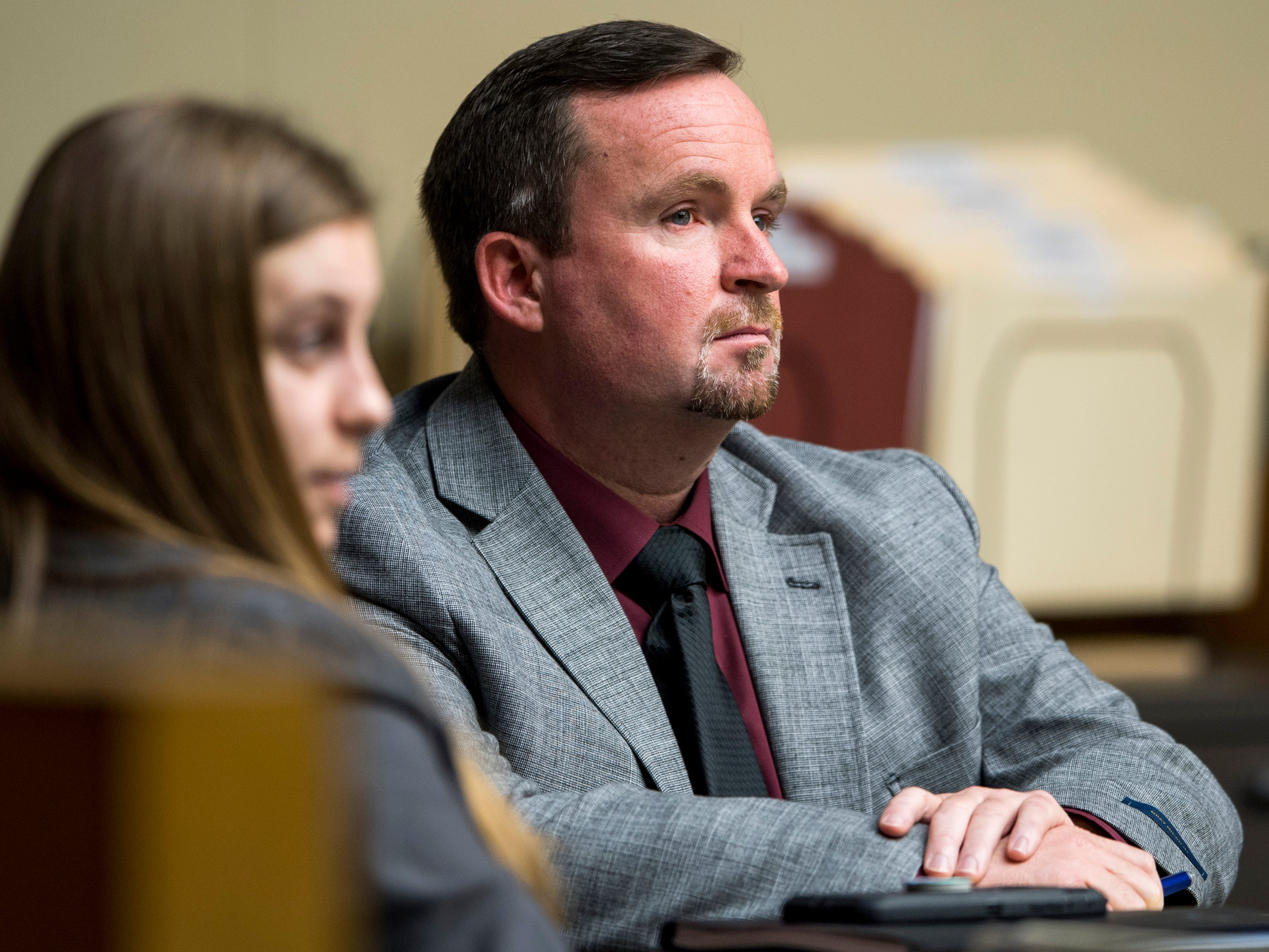 David Lynn Richards during his trial in Knox County Criminal Court on Friday, February 8, 2019.
