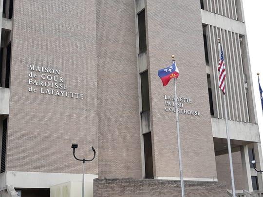 The Lafayette Parish Courthouse, at 800 Buchanan