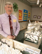 Tom Cunningham, shown Monday, Feb. 11, 2019, looks forward to retiring, ending one of Howell's longest running businesses in Yax Jewelers.
