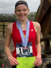 Pinckney senior Noelle Adriaens finished ninth in the USA Track & Field junior women's cross country race in Tallahassee, Fla.