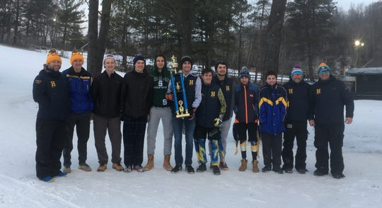 Hartland's boys ski team went 9-0 in duals and won the Alpine Valley Divisional meet.