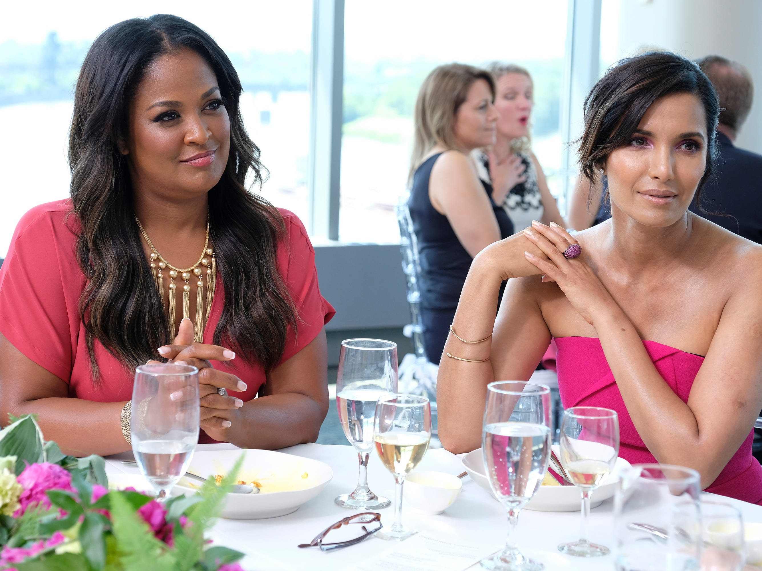 (From left to right): Muhammad Ali's daughter Laila Ali and host Padma Lakshmi on episode 11 of Bravo's 'Top Chef:' Kentucky season.