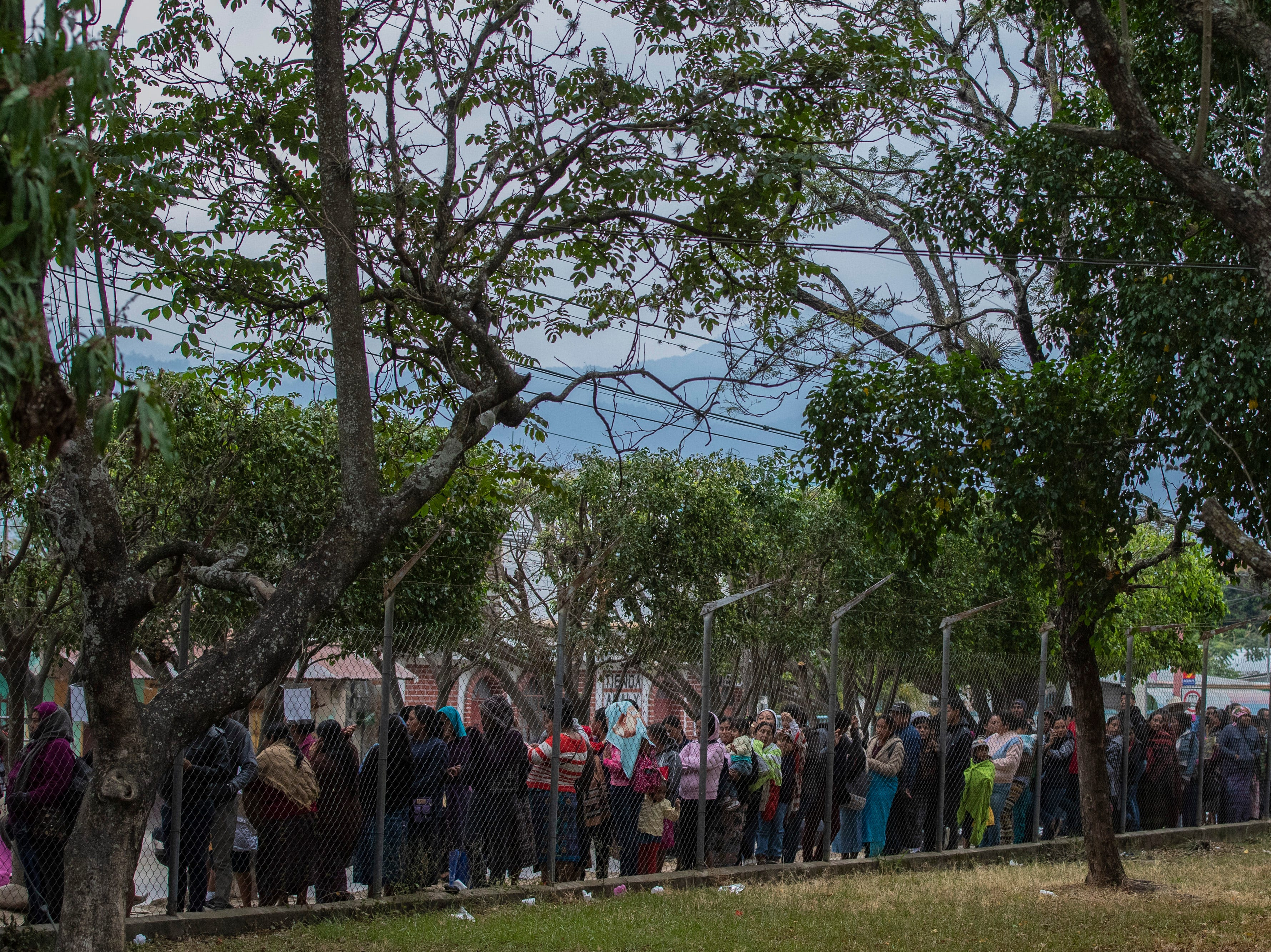 Over a thousand people wait in line to be seen by the Children of the Americas medical mission group at the Hospital Nacional de Salamá. The line of hopeful patients stretched from the Hospital Nacional de Salamá gates three city blocks by dawn. Jan 20, 2019
