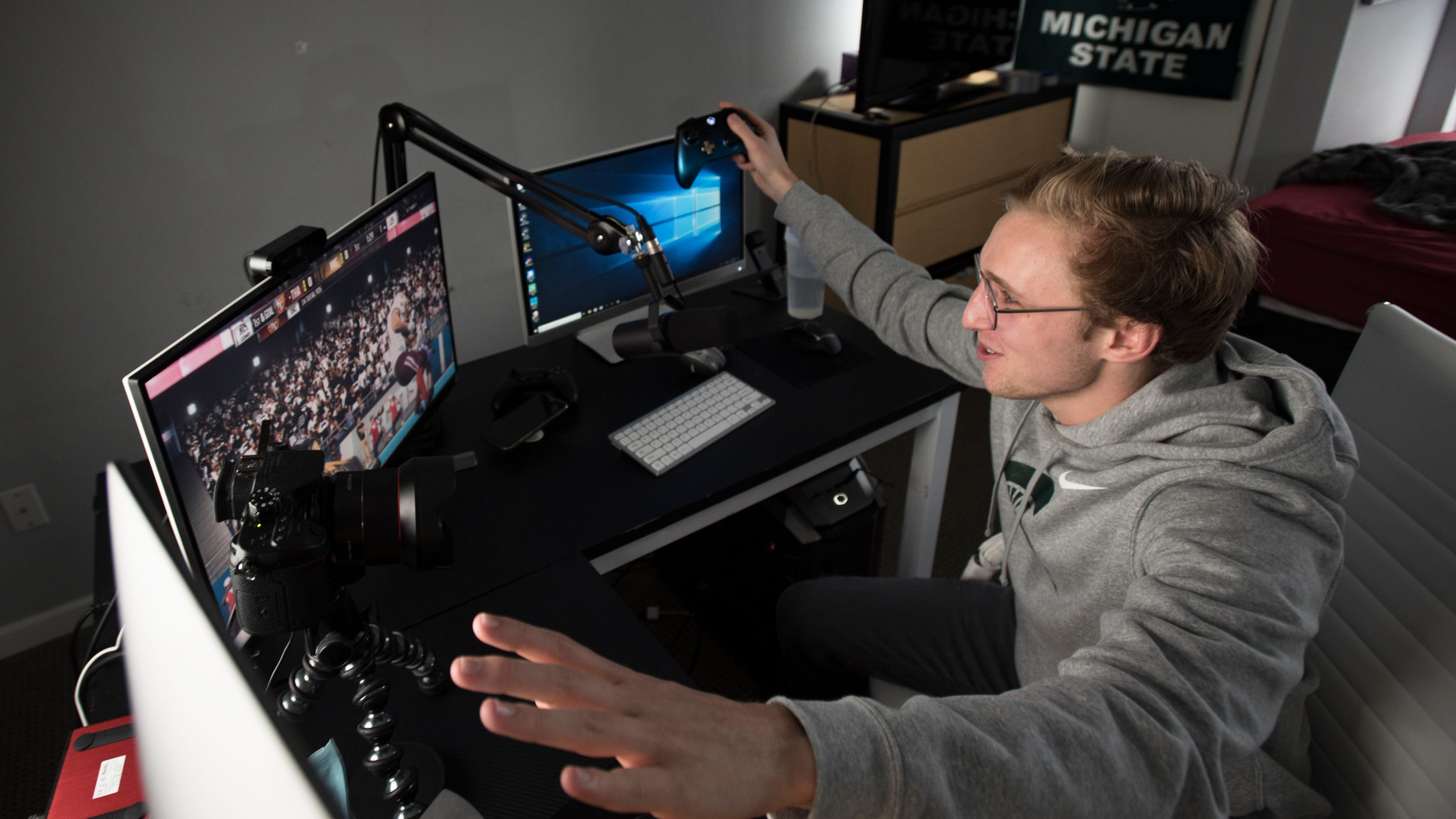 Madden 19' YouTube star a Michigan State student who earns
