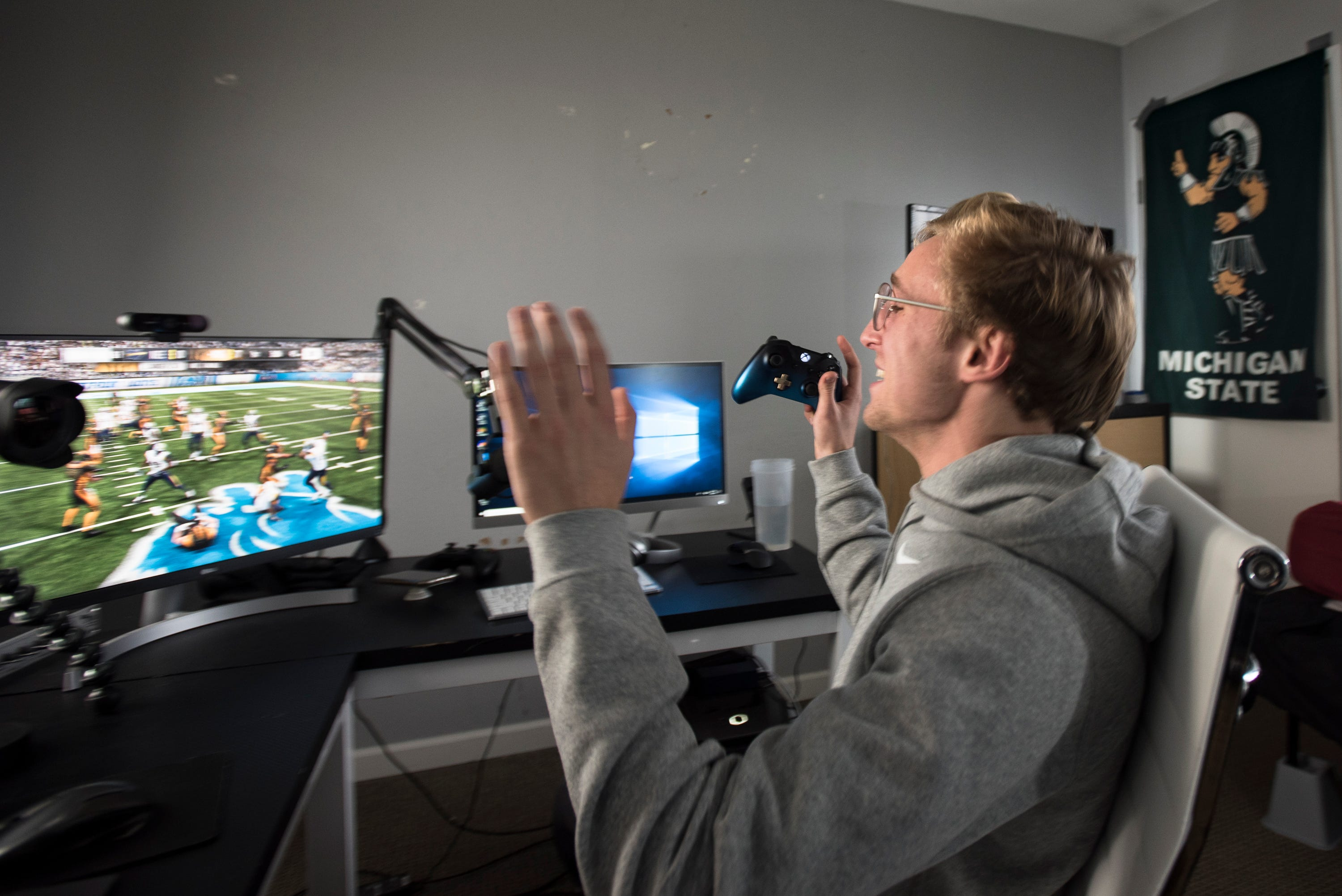 1638460c0 Madden 19  YouTube star a Michigan State student who earns six-figures