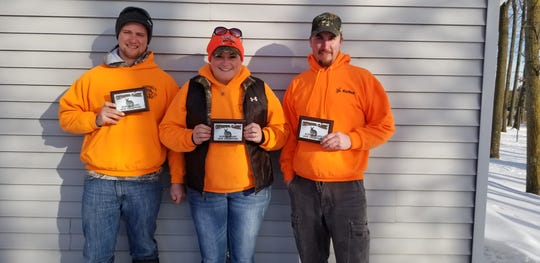 Maribel Sportsmen's Club Super Hunt is a three-person team event that was won by Brandon Schroeder, Marie Hickman and Pat Goehring. The luck of the draw determined the winners from the teams that brought in their nine-rabbit limit.